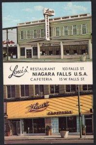 New York NIAGARA FALLS Louis' Family Restaurant Cafeteria Business Card - Chrome