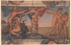 Italy Old Vintage Antique Post Card Peccato Originale Toma Unused