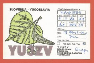 QSL AMATEUR RADIO CARD – RADGONA, SLOVENIA, YUGOSLAVIA – 1988