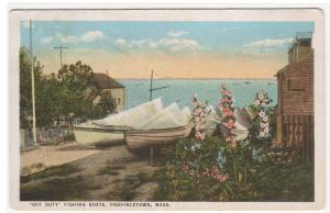 Fishing Boats Provincetown Cape Cod Massachusetts postcard