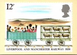 England Stamps Liverpool and Manchester Railway