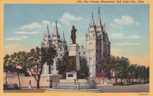 Utah Salt Lake City The Pioneer Monument Curteich