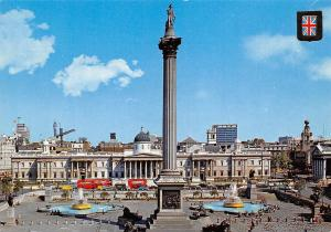 England London Nelson's Column Trafalgar Square Monument denkmal