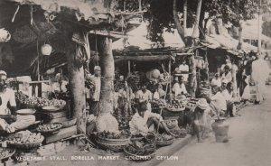 RP: Vegetable Stall , Borella Market , COLOMBO , Ceylon , 1930s