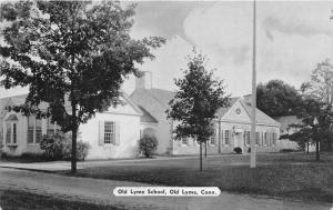 Old Lyme Connecticut~Old Lyme School Building & Grounds~1954 Postcard