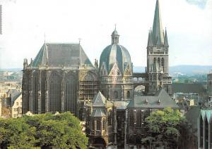 Der Dom zu Aachen Nordseite Bauzeit Cathedral