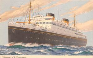 Cunard MV Britannic Ship Writing on back