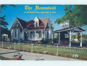 Unused Pre-1980 RESTAURANT SCENE Spearfish - Near Deadwood South Dakota SD F7878