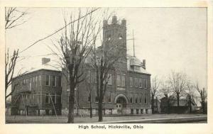 Auburn Postcard C-1910 High School Hicksville Ohio postcard 2777