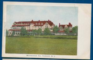 Monomonock Inn Caldwell New Jersey nj old litho postcard