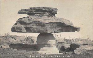 G23/ La Veta Colorado RPPC Postcard c1910 Balancing Rock Geology