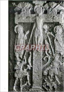 Postcard Modern Romsey Abbey Hampshire Carved Panel of the Crucifixion This c...