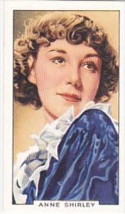 Gallaher Cigarette Card Portraits Famous Stars No 6 Anne Shirley