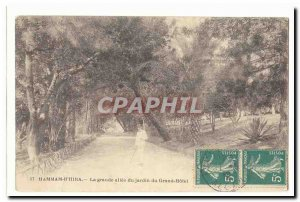 Morocco Hammam Dr. Hira Postcard Anciennela large driveway garden of Grand Hotel