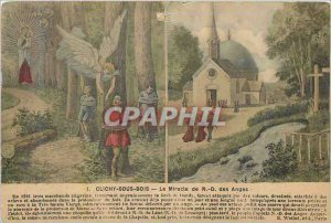 Old Postcard Clichy sous bois The Mircle ND Angels