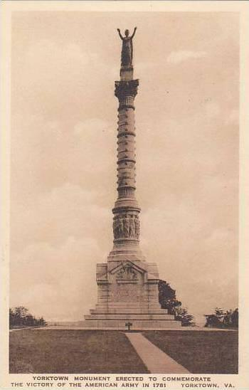 Virginia Yorktown Monument Erected To Commemorate The Victory Of the American...