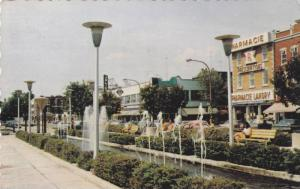 Fountain and Shopping Center at Joliette, Quebec, Canada, PU-1986