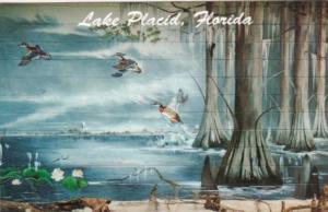 Florida Lake Placid Wood Ducks Taking Flight by Wade Kapaldo
