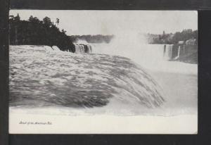 Brink of the American Falls,Niagara Falls,NY Postcard