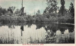 Blue Hole, Castalia, Ohio, Early Postcard, Unused