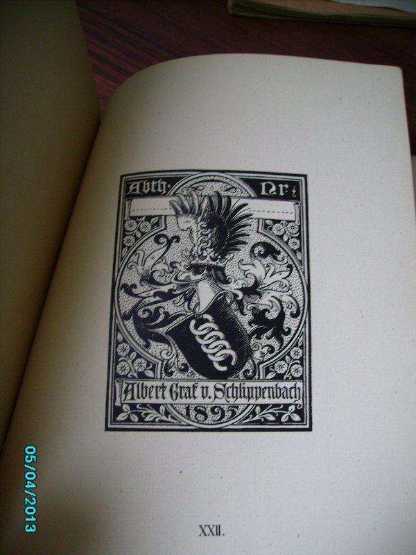 1898 FÜNFUNDZWANZIG NEUE HERALDISCHE BÜCHERZEICHEN, 25 EXLIBRIS BOOKPLATE