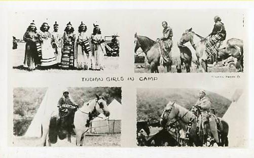 Indian Girls in Camp  **RPPC**  4 Views