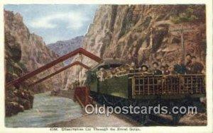 Observation Car Hanging Bridge, Royal Gorge, Colorado, CO USA Trains, Railroa...