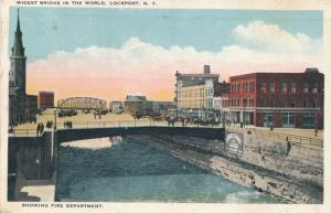 Fire Department at Widest Bridge in the World - Lockport NY, New York - WB