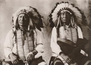 Red Cloud & American Horse Oglala Lakota Indian Chiefs circa 1897 Western USA
