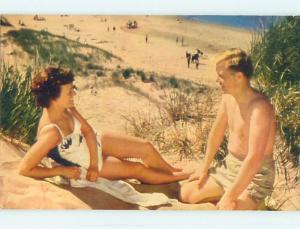 Unused Pre-1980 TOWN VIEW SCENE Cavendish Beach Prince Edward Island PE p8919