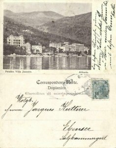 croatia, ABBAZIA OPATIJA, Pension Villa Jeanette (1902) Postcard