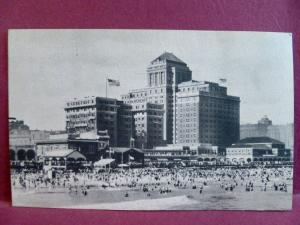 2 Old Postcard Hotel Beach & Boardwalk with Airview Atlantic City, NJ