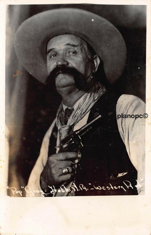 POP GRAY, PEACE OFFICER NEW MEXICO AND WEST TEXAS RPPC REAL PHOTO POSTCARD