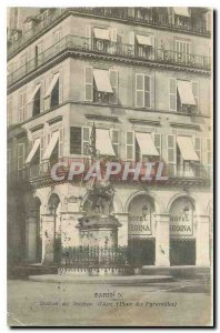 Old Postcard Paris Statue of Joan of Arc Square Pyramids Hotel Regina