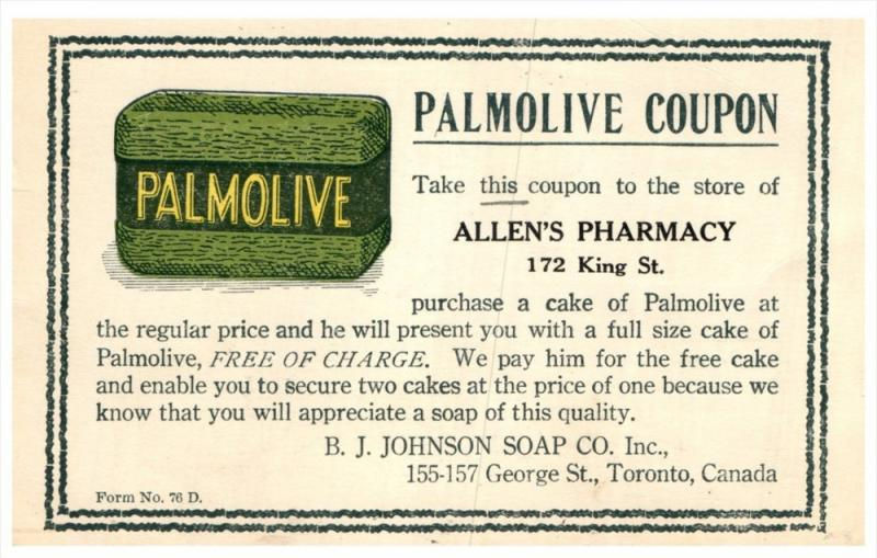 16465  Palmolive Soap   Coupon B.J.Johnson Soap Co.