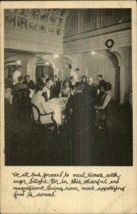Admiral Oriental Line Ship SS President Jackson US SEAPOST CANCEL Postcard