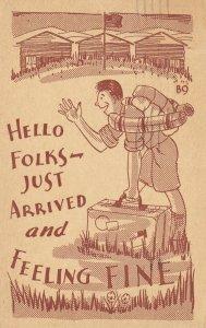 Just Arrived & am fine postcard , PU-1938