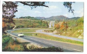 VA Lee Highway 11 Virginia Highlands Road Postcard