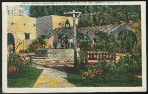 TX Spanish Governor's Palace Patio San Antonio Texas Kropp Linen Postcard