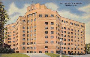 Hospitals Post Card St Vincent's Hospital Toledo, Ohio, USA Postcard Unused