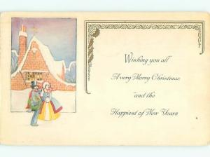 Divided-Back CHRISTMAS SCENE Great Postcard W9297