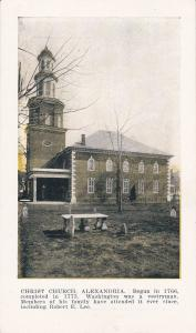 ALEXANDRIA, Virginia, 1900-1910s; Christ Church; version 2