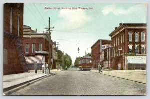 Warsaw Indiana~Fellow Across Market Street~Hickman Neff Real Estate~Trolley~1910