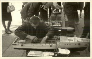 Model Ships Boats Toys Meet or Contest? Real Photo Postcard