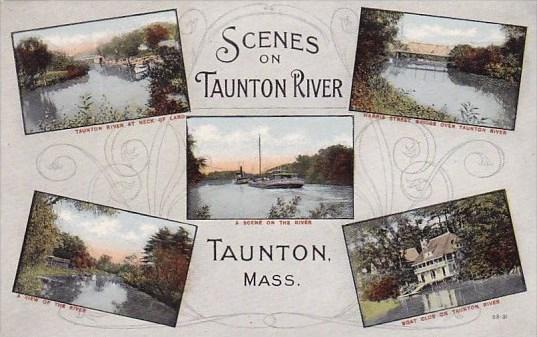 Massachusetts Taunton Scenes On Taunton River