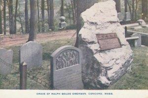 CONCORD, Massachusetts, 1900-10s; Grave of Ralph Waldo Emerson