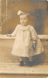 Robinson Kansas~Toddler Girl Lillian~Locket Necklace~1912 Real Photo Postcard