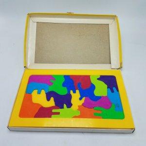 1969 LAKESIDE Giocattoli, 18 Cavalli & Piloti Gioco Puzzle, Completo, #8309