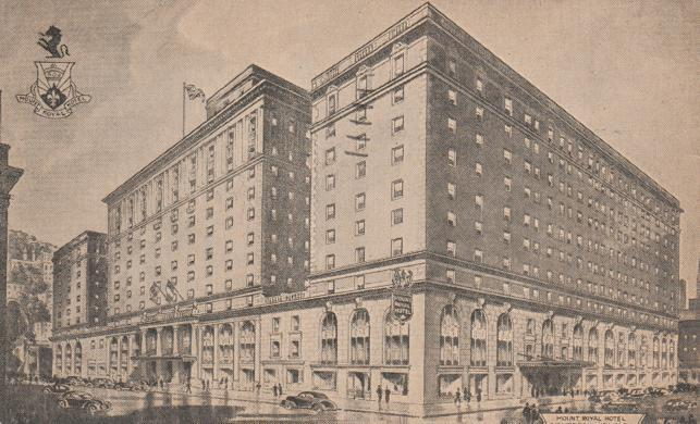 Mount Royal Hotel Montreal Qc Quebec Canada Pm 1947
