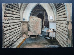 Kent HYTHE St Leonard's Church Crypt SKULLS & BONES - Old Postcard by Valentine